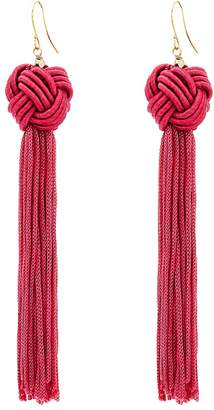 Vanessa Mooney Astrid Knotted Tassel Earrings Earring