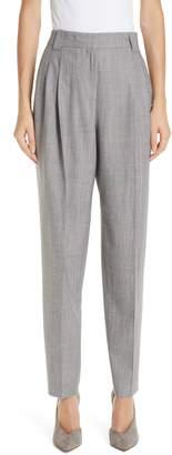 Lafayette 148 New York Vestry Pleated Plaid Pants