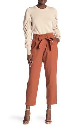 Very J Ruffle Waist Crop Pants