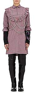 Vetements MEN'S PLAID COTTON EMBELLISHED TUNIC SHIRT SIZE M