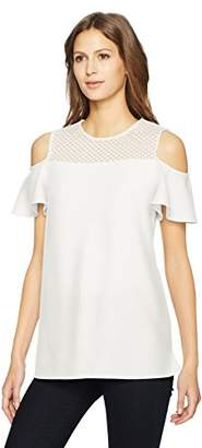 Calvin Klein Women's Cold Shoulder with Lace Detail