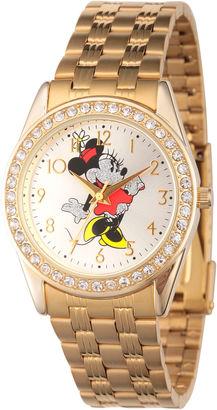 DISNEY Disney Women'S Gold Tone Minnie Mouse Glitz Bracelet Watch W002765 $59.99 thestylecure.com
