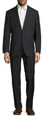 Calvin Klein Wool-blend Structured Suit