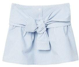 MANGO Striped bow skirt