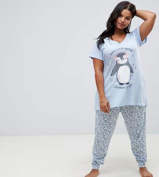Original Penguin Yours Sparkle Long Pyjama Set