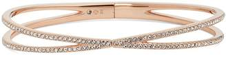 Nadri Pave Hinged Crossover Bracelet