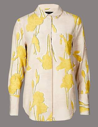 Marks and Spencer Pure Silk Long Sleeve Shirt