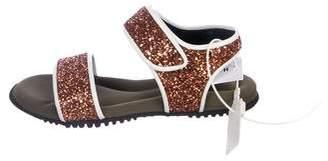 Marni Glitter Ankle-Strap Sandals