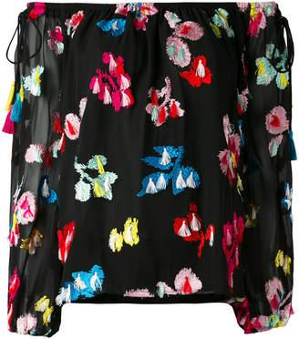 Tanya Taylor embroidered off-shoulder blouse