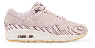 Nike Air Max 1 Si Leather And Mesh Sneakers - Pastel pink