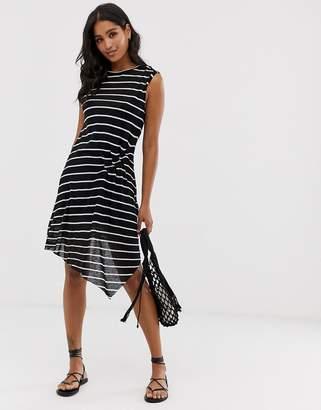 AllSaints duma jersey stripe midi dress