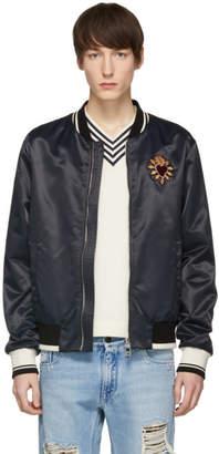 Dolce & Gabbana Black Sacre Coeur Bomber Jacket