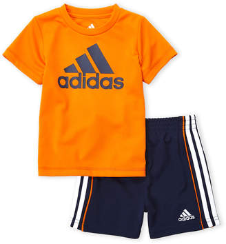 adidas Infant Boys) Two-Piece Logo Tee & Active Shorts Set