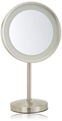 Jerdon HL1015NL 9.5-Inch LED Lighted Vanity Mirror with 5x Magnification