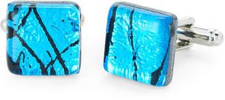 Duchamp Blue & Black Glass Cuff Links
