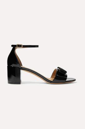 Salvatore Ferragamo Gavina Bow-embellished Patent-leather Sandals