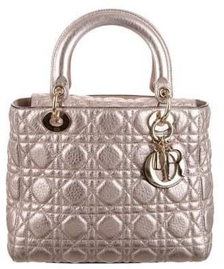 Christian Dior 2017 Metallic Medium Lady Bag