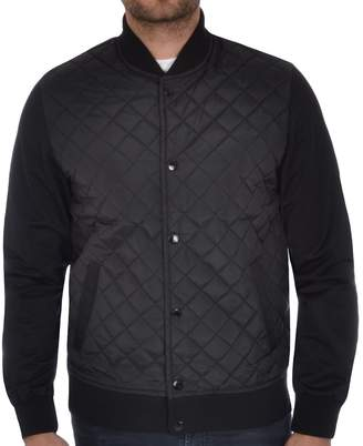 Soul Star Men's Diamond Quilted Bomber Jacket - M