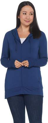 Cuddl Duds Soft Comfort Full Zip Hooded Sweatshirt