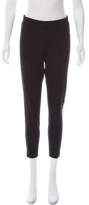 Magaschoni Leather-Accented High-Rise Pants