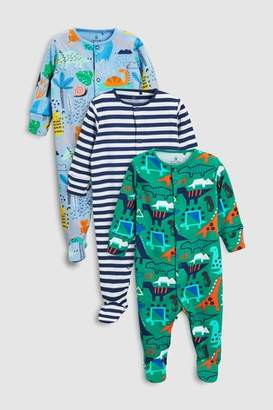 Next Boys Bright Character Sleepsuits Three Pack (0mths-2yrs)