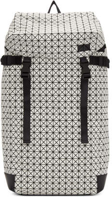 Bao Bao Issey Miyake White and Black Hiker Backpack