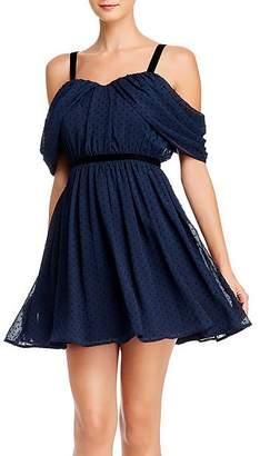 Aqua Clip Dot Cold-Shoulder Dress - 100% Exclusive
