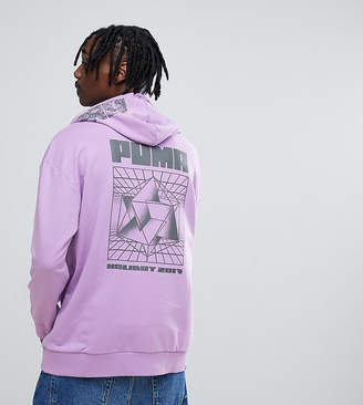 Puma Hoodie With Back Print In Purple Exclusive To ASOS