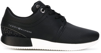 Tommy Hilfiger perforated decoration sneakers $117.69 thestylecure.com