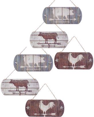 Kurt Adler Set Of 6 Weathervane Ornaments
