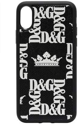 Dolce & Gabbana Crown print iPhone X phone case