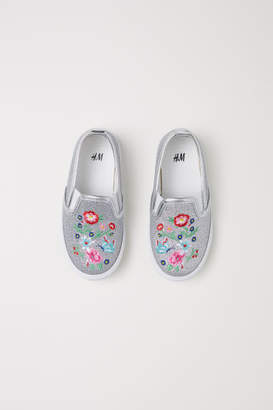 H&M Slip-on Shoes - Silver
