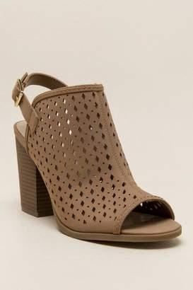 francesca's Pindee Perforated Shootie Heel - Tan