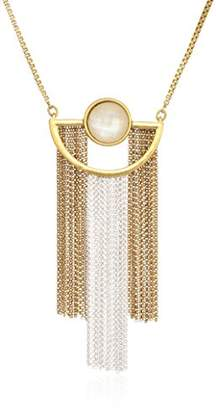 Lucky Brand Women's Painted Pendant Necklace