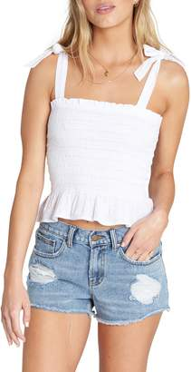 Billabong To the Point Smocked Top