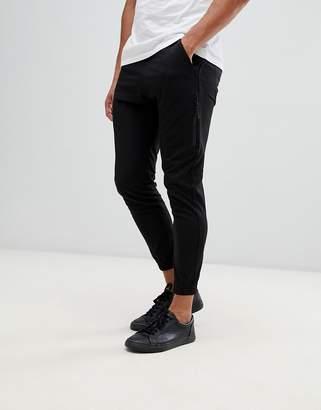 Religion Skinny Fit Cargo Pants In Black