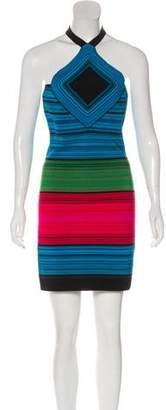 Balmain Halter Mini Dress w/ Tags