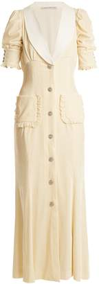 ALESSANDRA RICH V-neck velvet dress