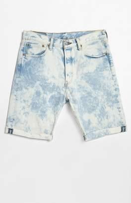 Levi's 501 Cutoff Bleach Denim Shorts