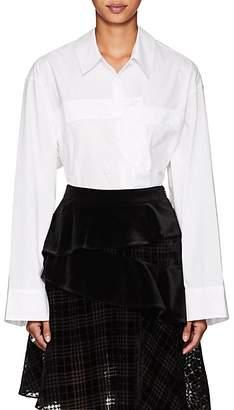 J KOO Women's Bustier Cotton Blouse - White