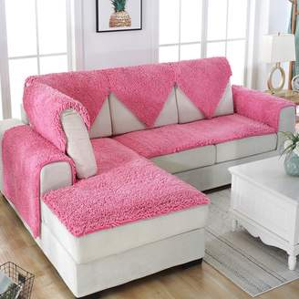FDJKGFHGFCGDFGDG Snow neil slipcover sofa,European style Plush sofa slipcover Winter slip Leather sofa mat Fabric bay window seat cushion