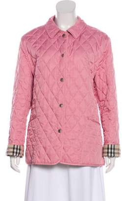 Burberry Quilted Nova Checked-Lined Jacket
