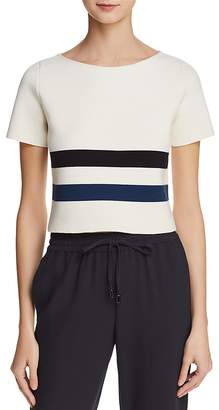 Emporio Armani Boxy Striped Knit Top - 100% Exclusive