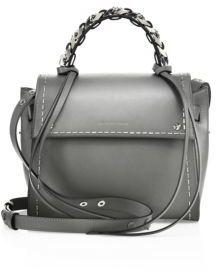 Elena Ghisellini Angel Sensua Small Leather Satchel $1,315 thestylecure.com