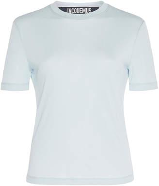 Jacquemus Bianco Short-Sleeve Jersey T-Shirt