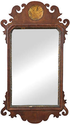 One Kings Lane Vintage Federal Mirror with Gold Leaf Medallion