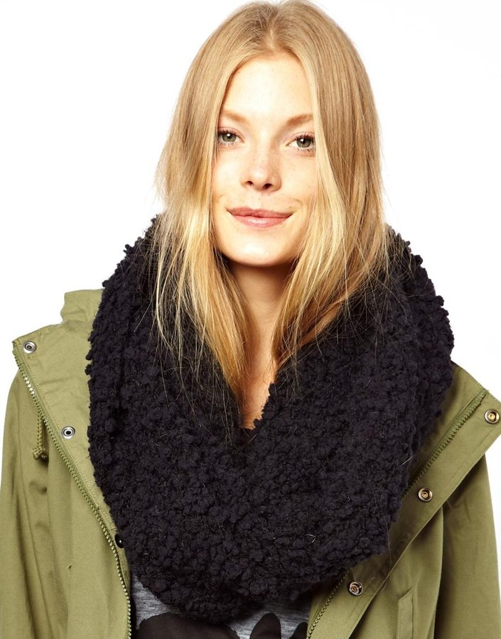 Asos Fluffy Faux Shearling Snood