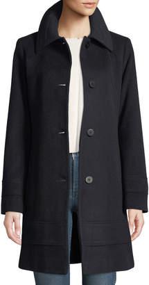 Fleurette Wool-Blend Fitted Coat
