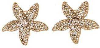 Oscar de la Renta Star Fish Crystal Earrings