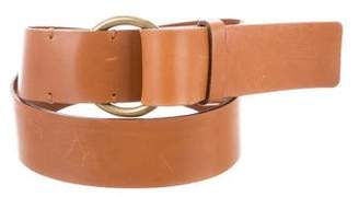 Theory Leather Wide Belt
